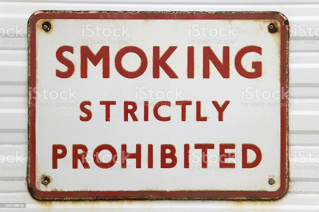 Old 'Smoking' sign royalty-free stock photo