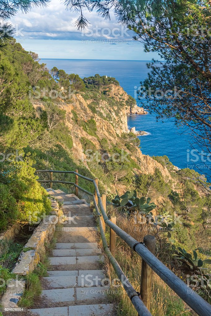 Old smugglers' trails, Costa Brava, Catalonia, Spain stock photo