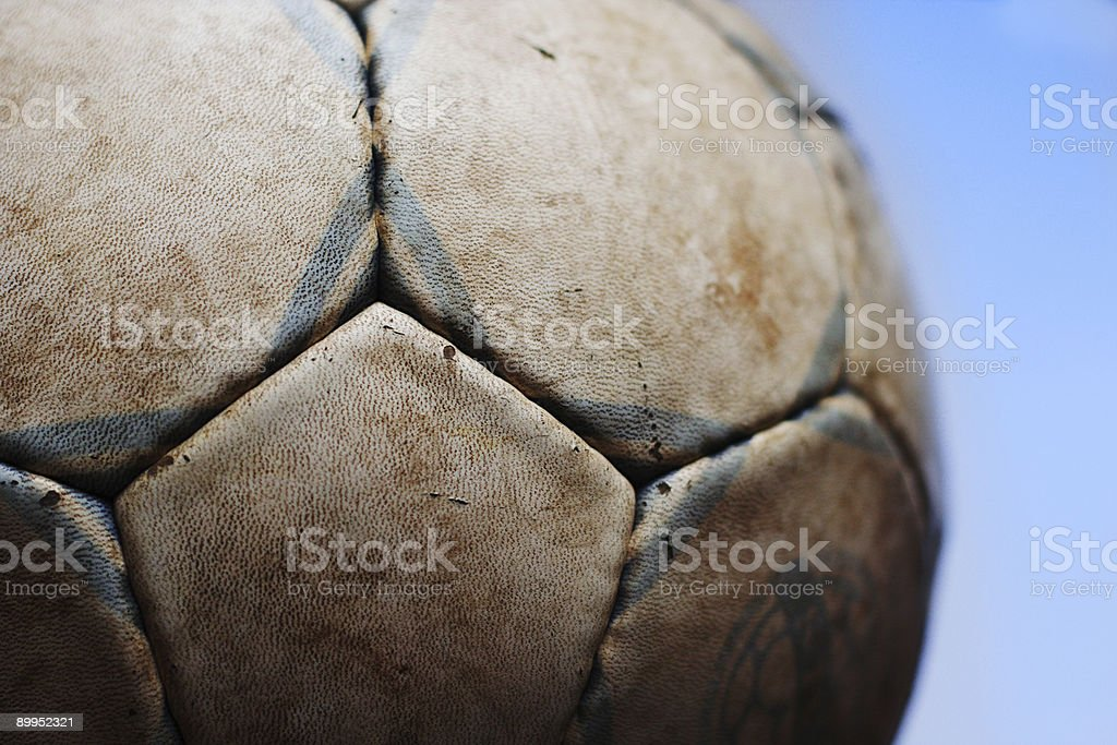 Old soccer ball IV stock photo