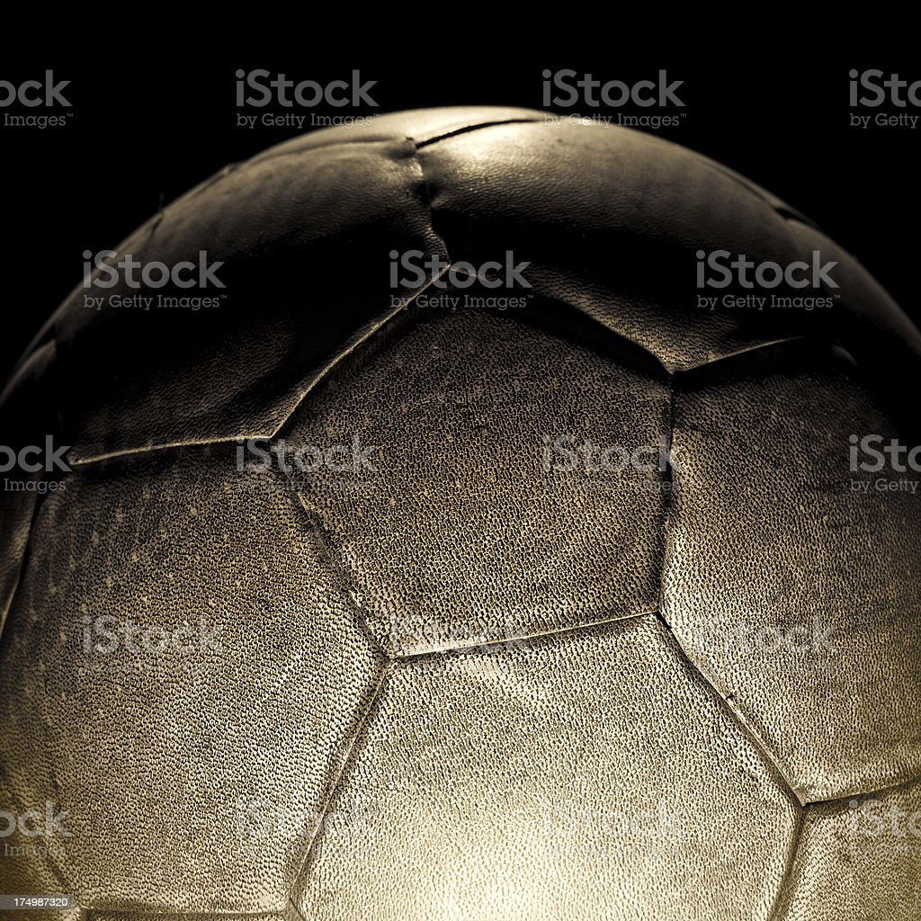 Old soccer ball royalty-free stock photo