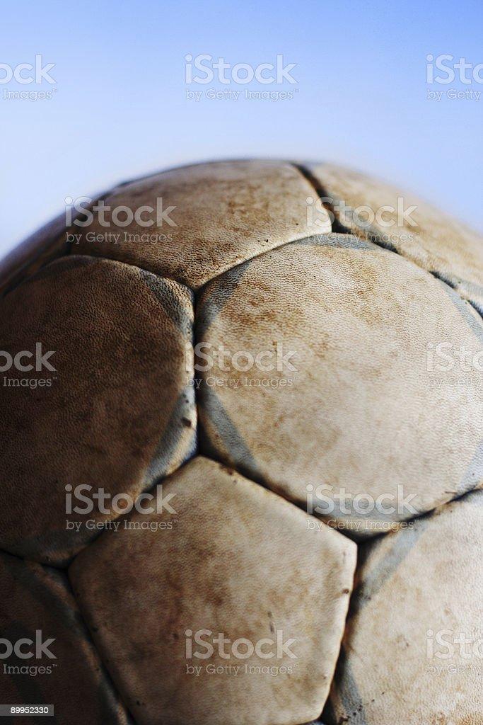 Old soccer ball V stock photo