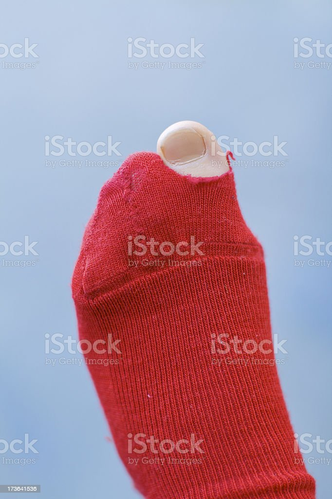Old sock royalty-free stock photo