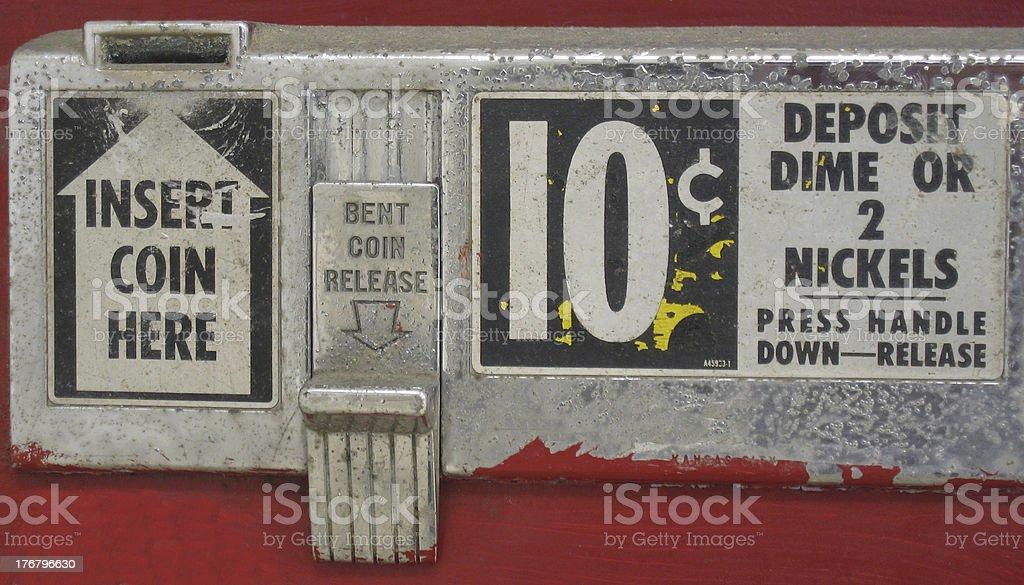 old soda machine 2 stock photo