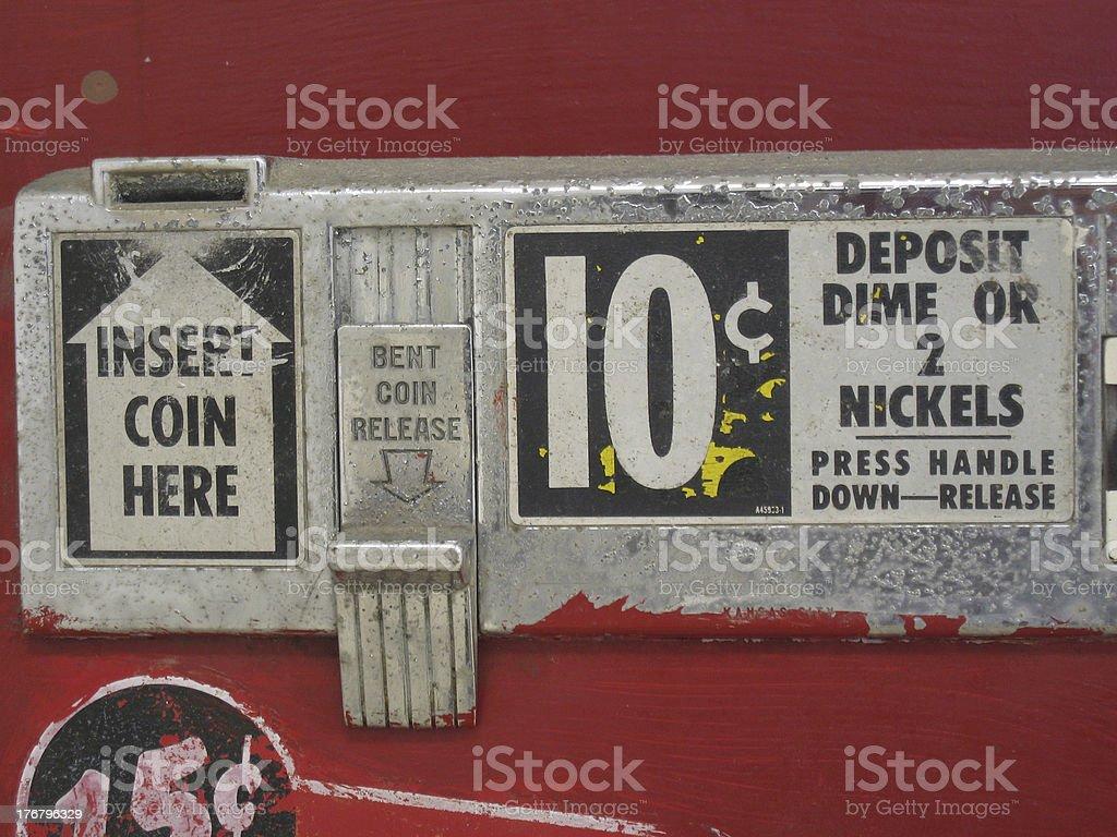 old soda money slot stock photo