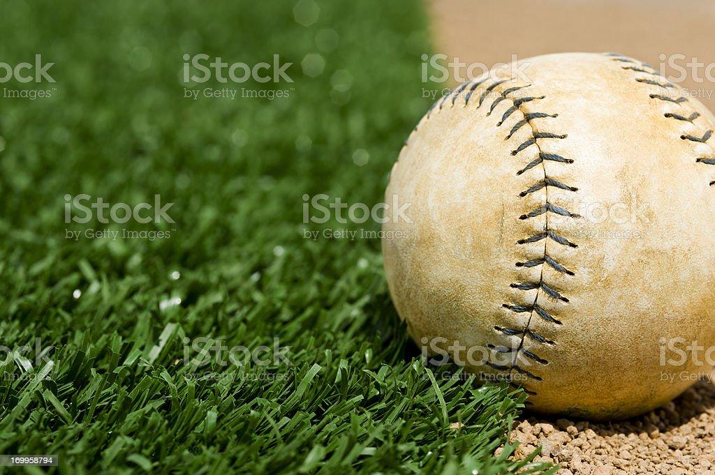 Old Softball stock photo