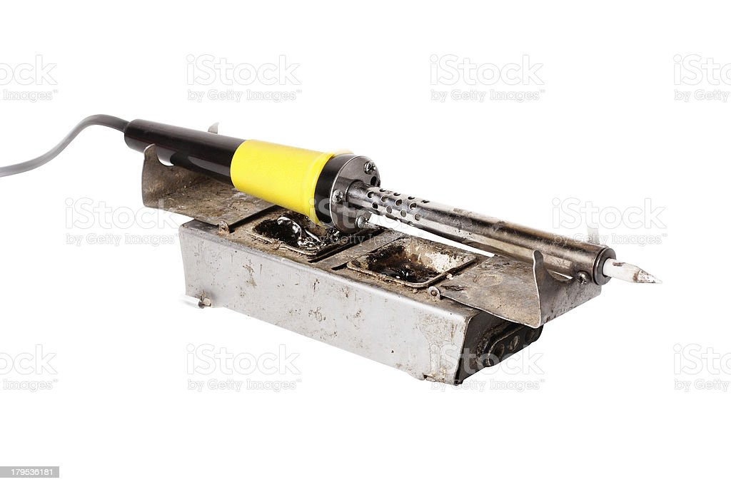 Old soldering stock photo