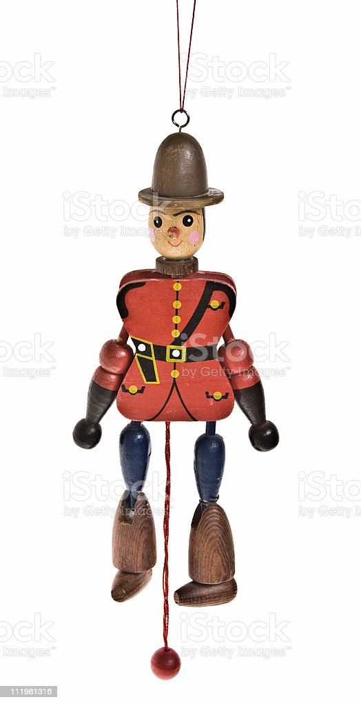 Old Soldier Jumping Jack Toy stock photo