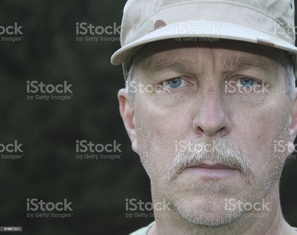 Old Soldier stock photo