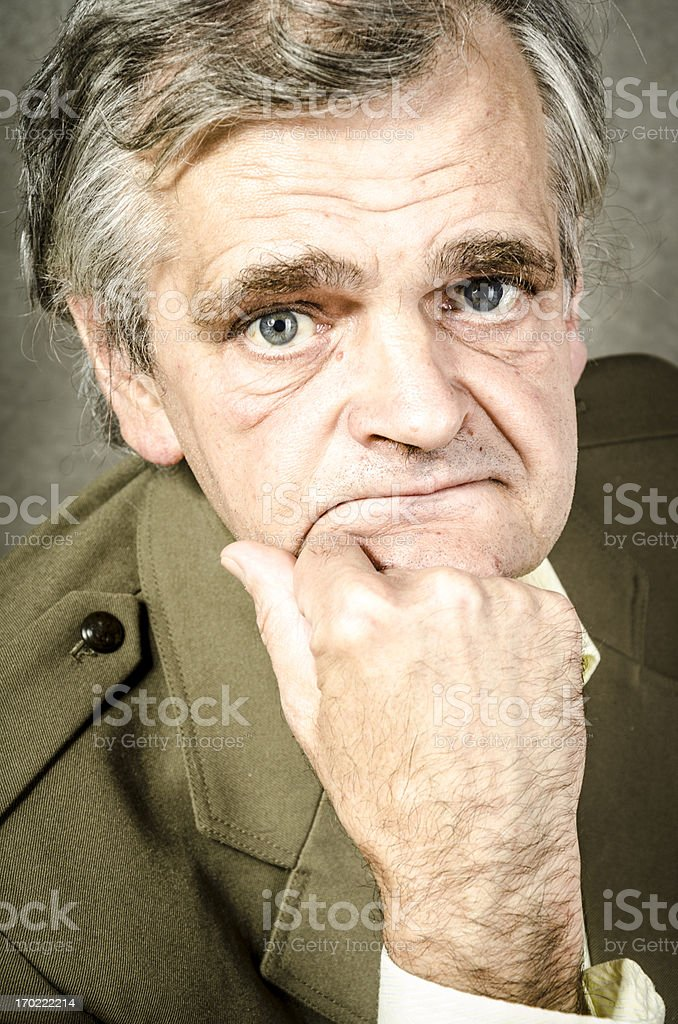 Old soldier portrait royalty-free stock photo