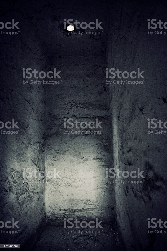 Old Solitary Confinement Cell stock photo
