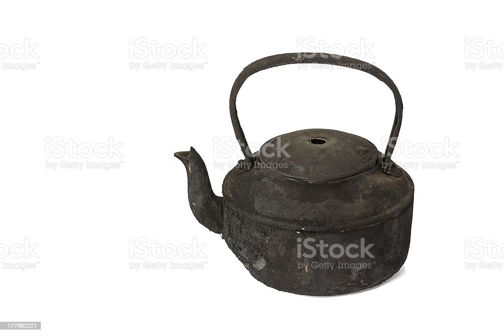 Old sooty kettle royalty-free stock photo