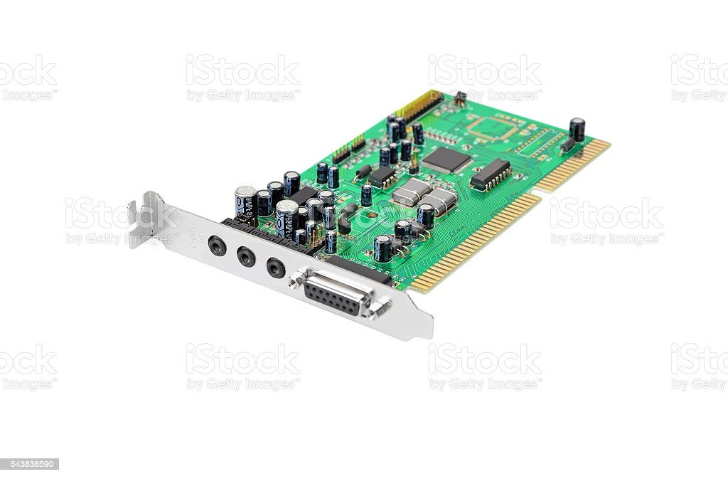 Old sound card stock photo