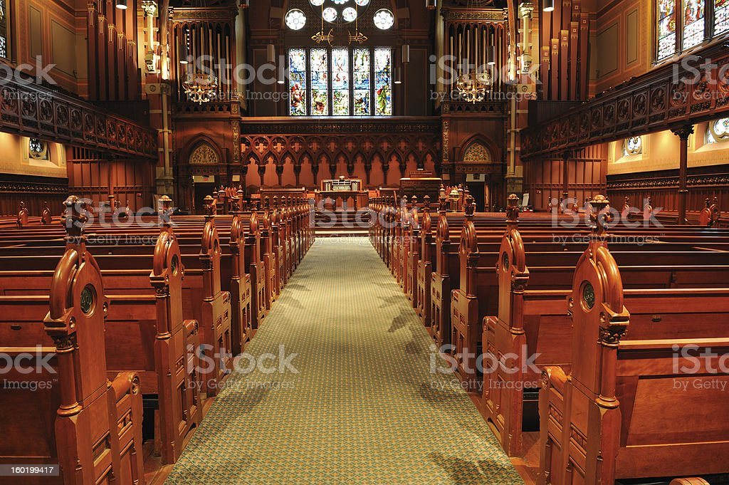 Old South Church in Boston stock photo