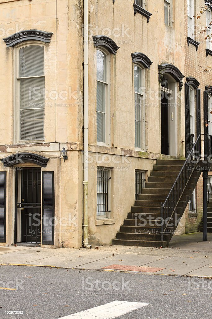 Old Southern Apartment Building stock photo