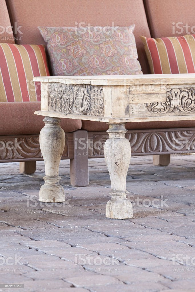 Old Southwest Coffee Table and Sofa royalty-free stock photo
