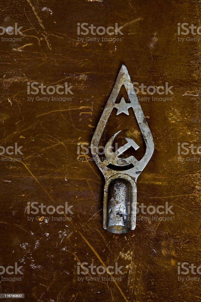 Old Soviet Crest royalty-free stock photo