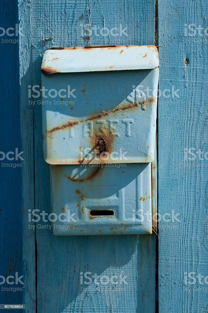 Old soviet postbox stock photo