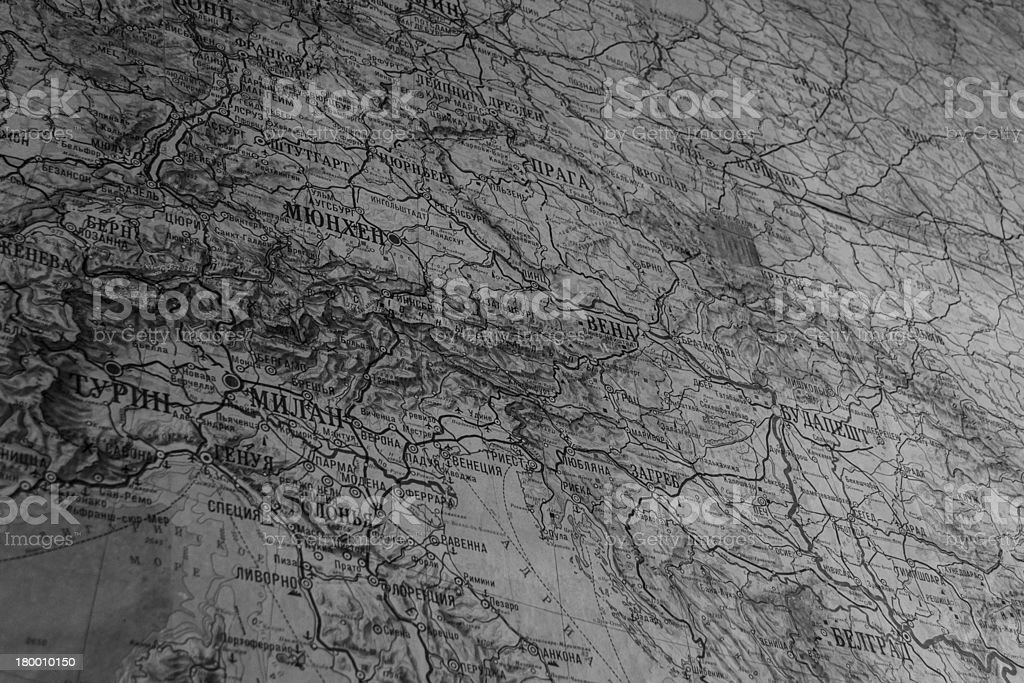 Old Soviet Union map royalty-free stock photo