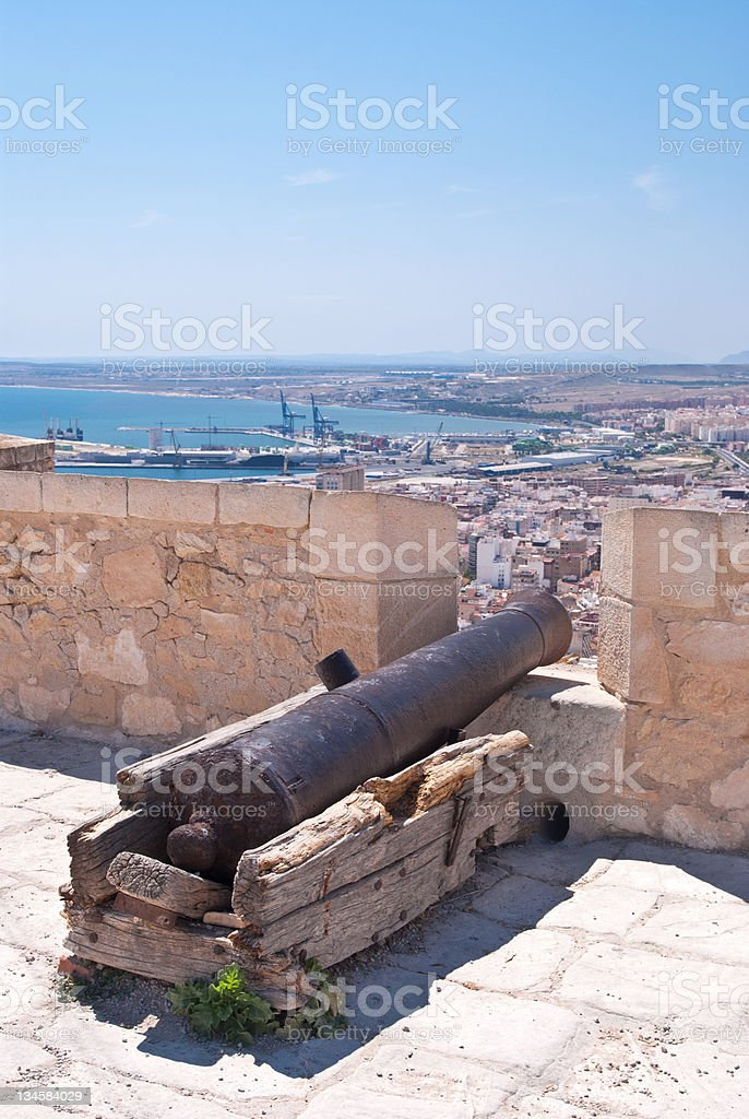 Old Spanish cannon stock photo