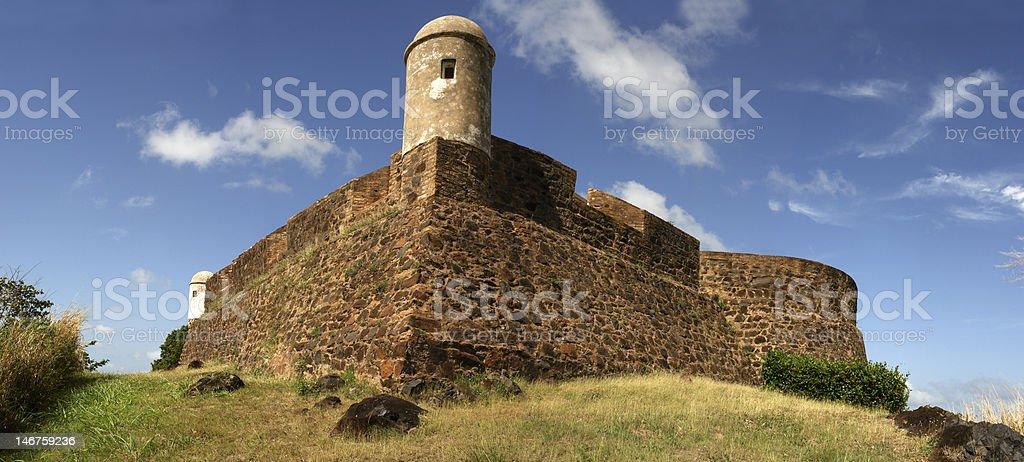 Old spanish castle - Castillo de Guayana royalty-free stock photo