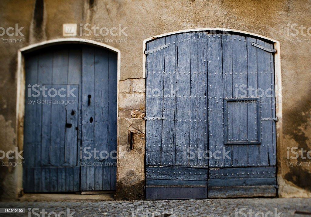 Old Spanish doors royalty-free stock photo