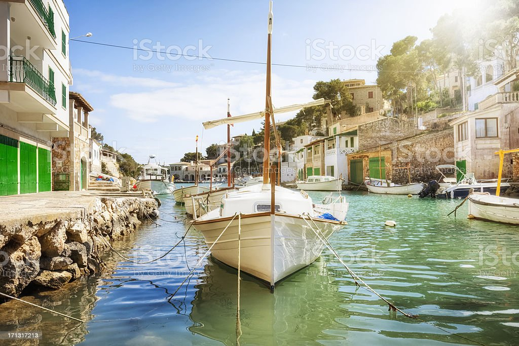 Old Spanish Fishing Harbor royalty-free stock photo