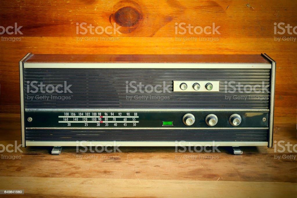 old spanish FM radio stock photo