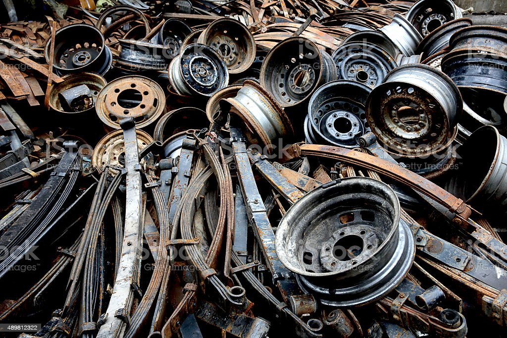 old spare parts for automobiles stock photo
