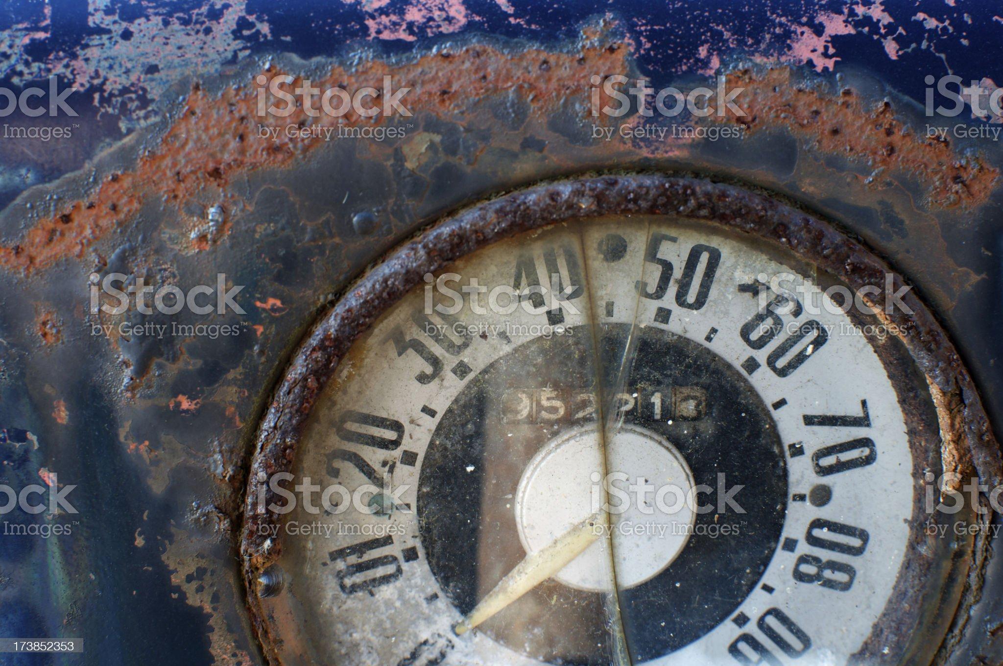 Old Speedometer royalty-free stock photo