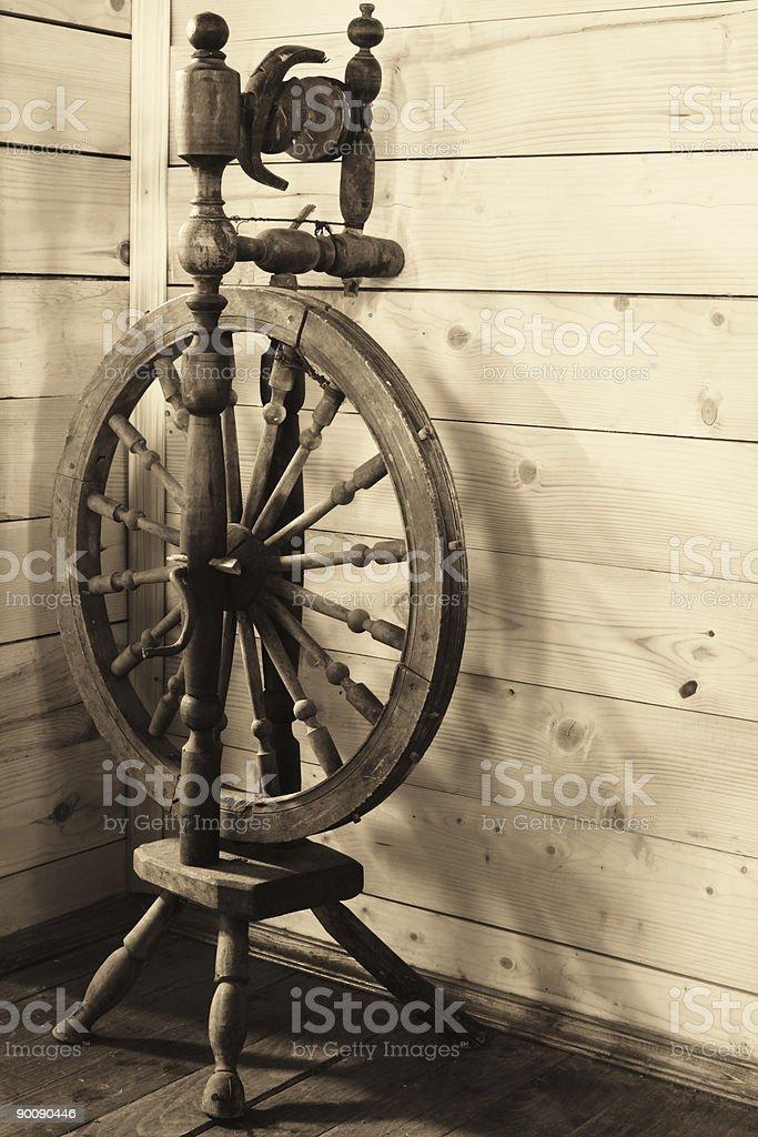 Old spinning-wheel stock photo
