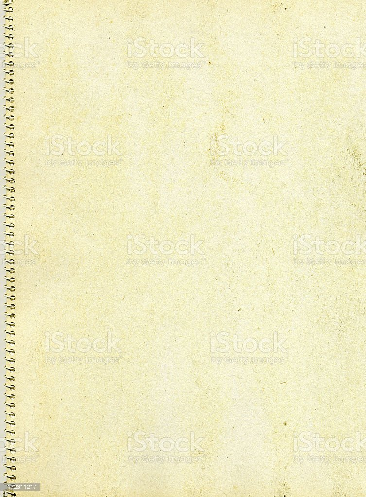 old spiral notebook XXL royalty-free stock photo