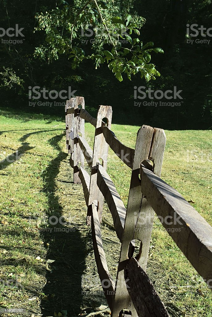 Old Split Rail Fence royalty-free stock photo