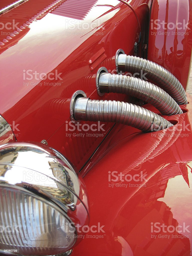 Old sport car royalty-free stock photo