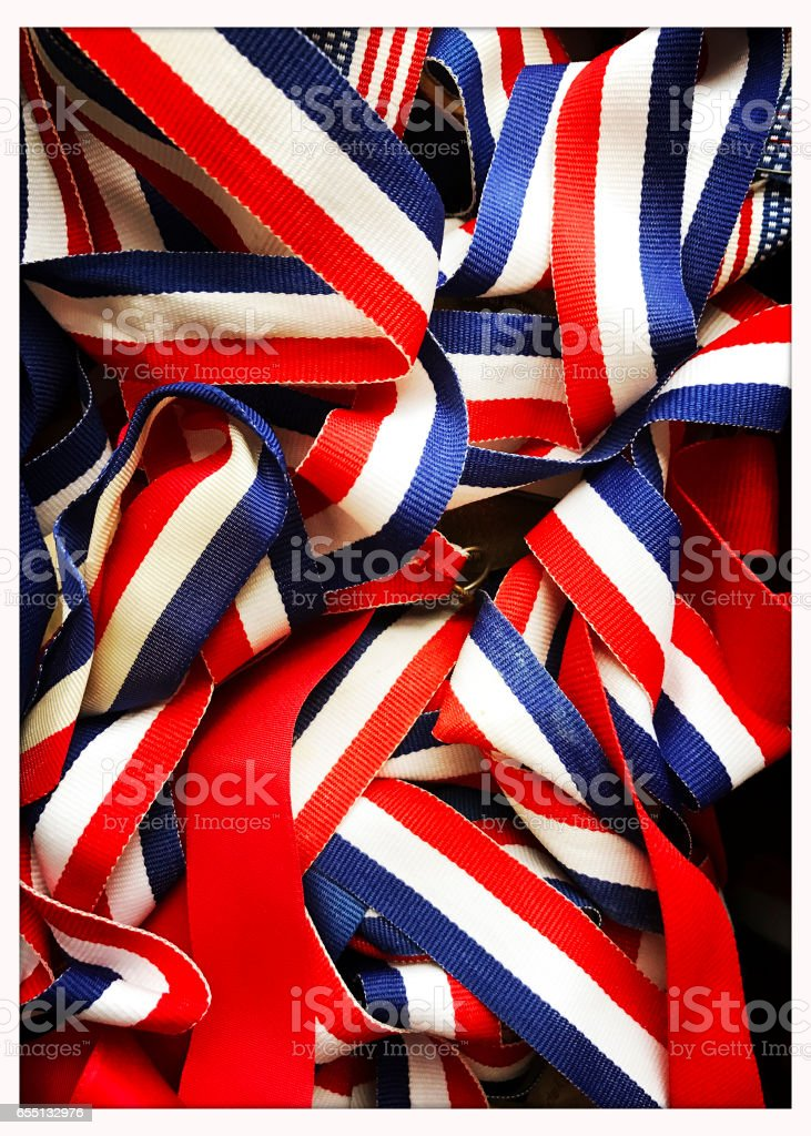 Old Sports Ribbons stock photo