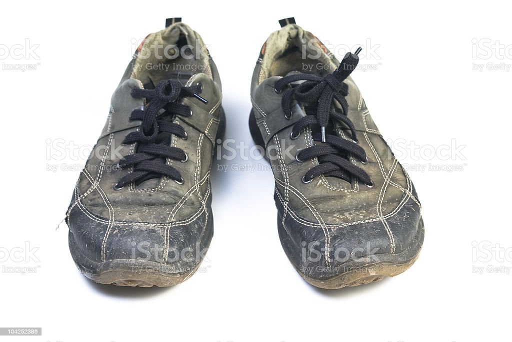 Old sports shoes. stock photo