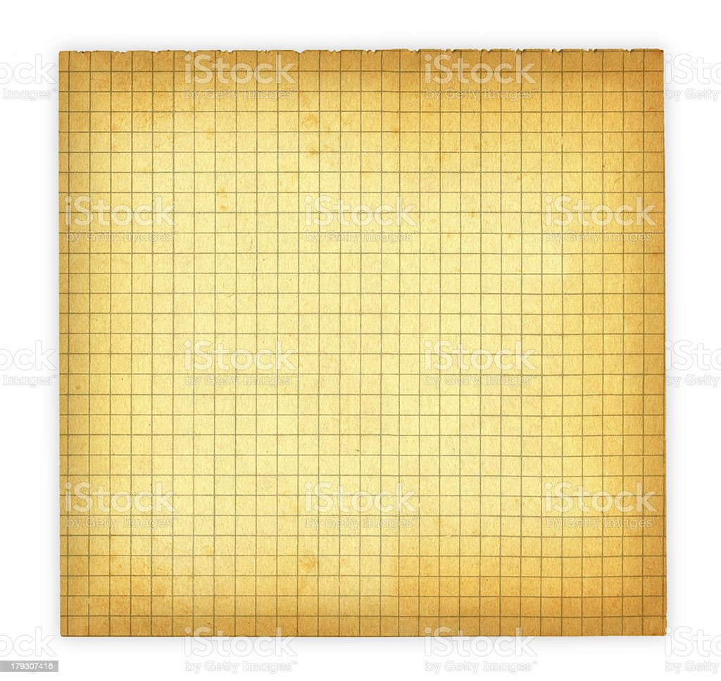 old squared paper royalty-free stock photo