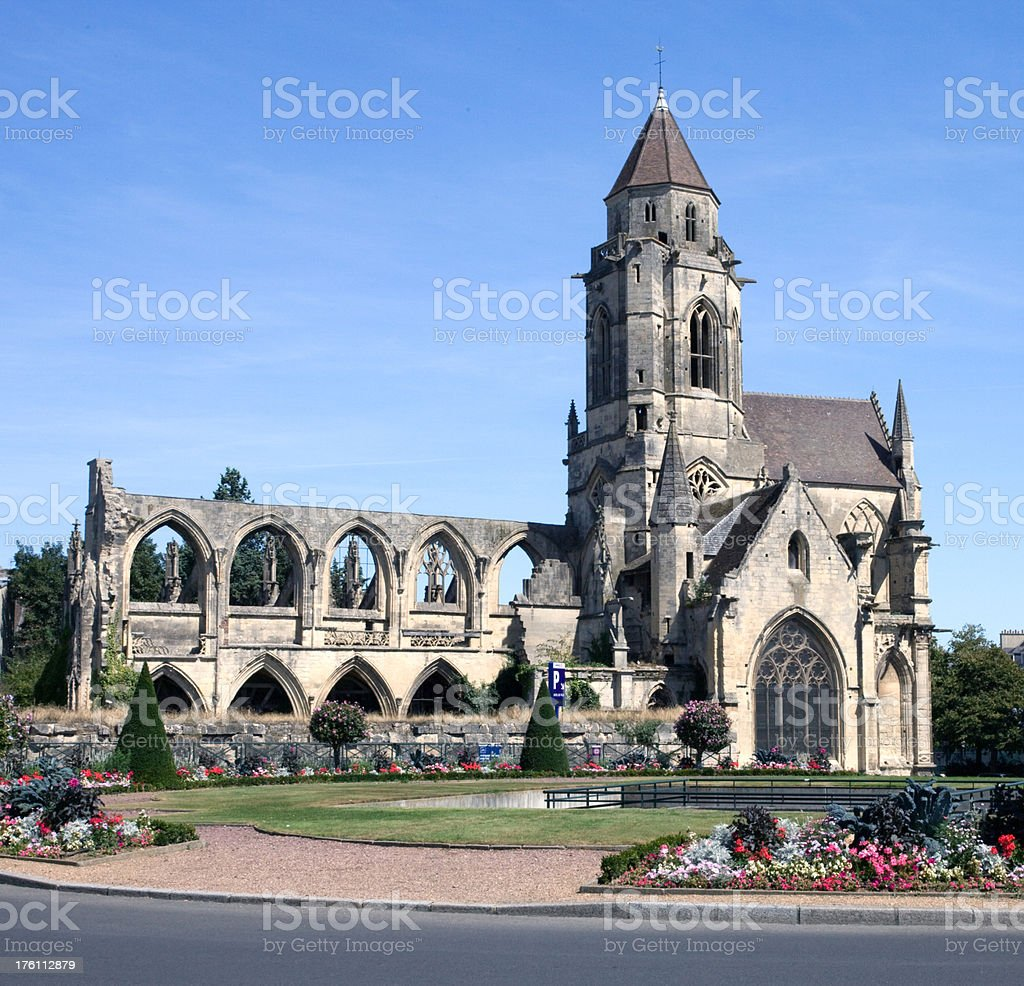 Old St. Stephen's Church – Caen, Normandy France stock photo