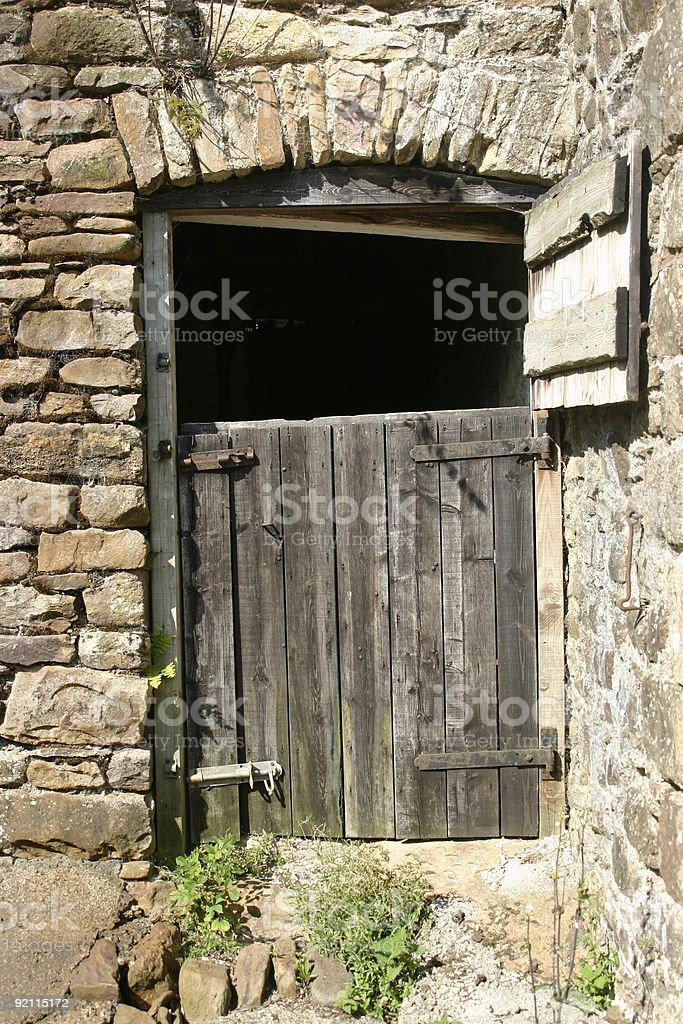 Old Stable Door royalty-free stock photo