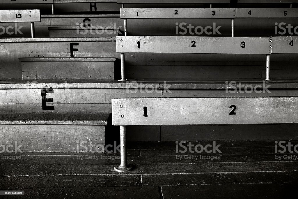 old stadium bleachers royalty-free stock photo