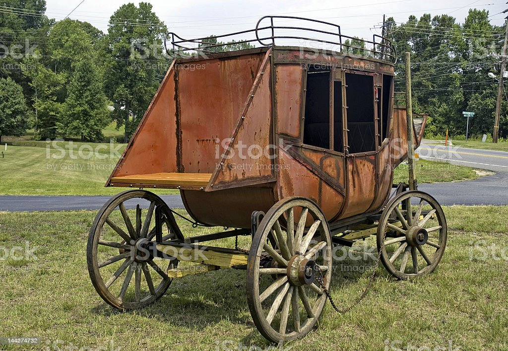 Old Stage Coach II royalty-free stock photo