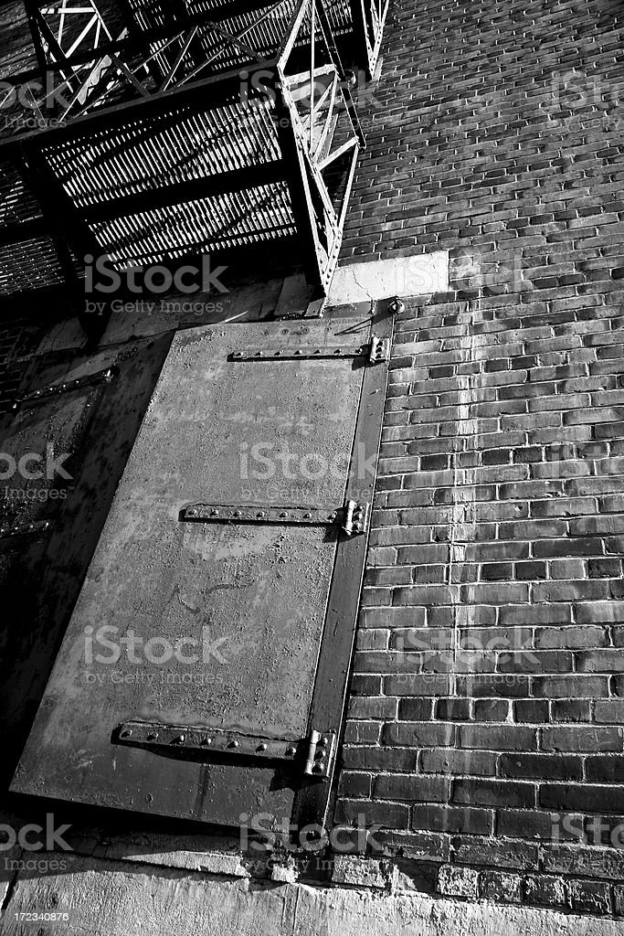 Old Stage Door royalty-free stock photo