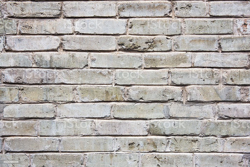 Old Stained Brick Wall Background stock photo