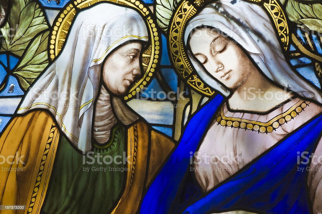 Old Stained Glass royalty-free stock photo