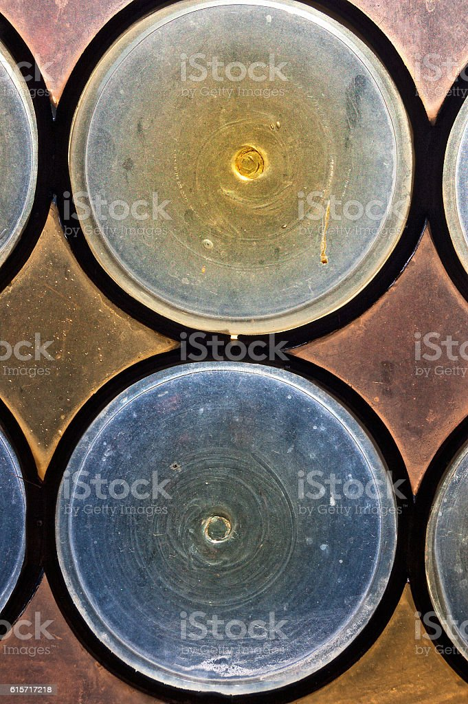 Old Stained Glass - Window Ancient Church stock photo