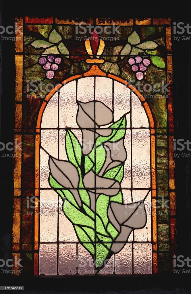 Old Stained Glass Window royalty-free stock photo