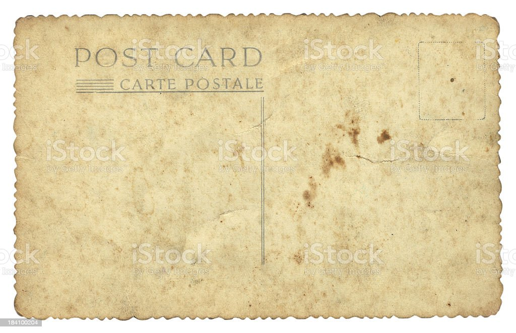 old stained postcard royalty-free stock photo