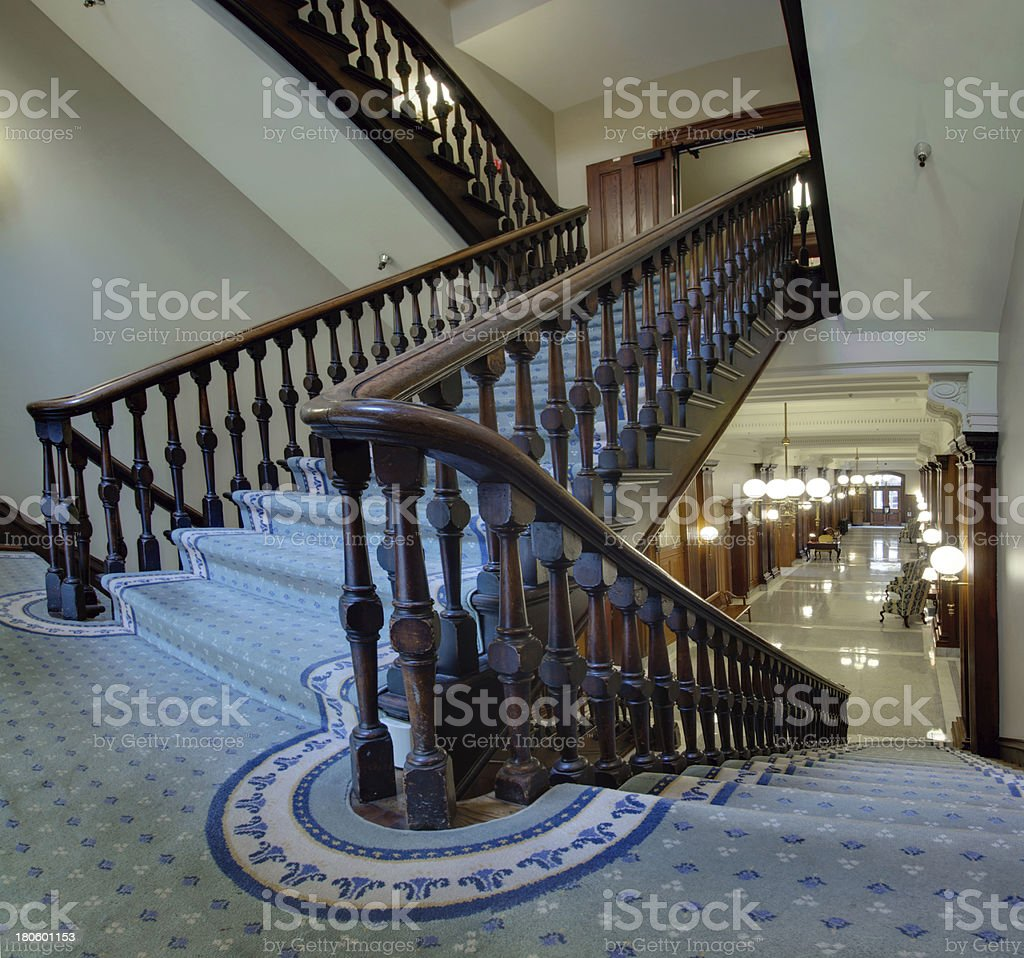 Old Staircase in Pioneer Courthouse royalty-free stock photo