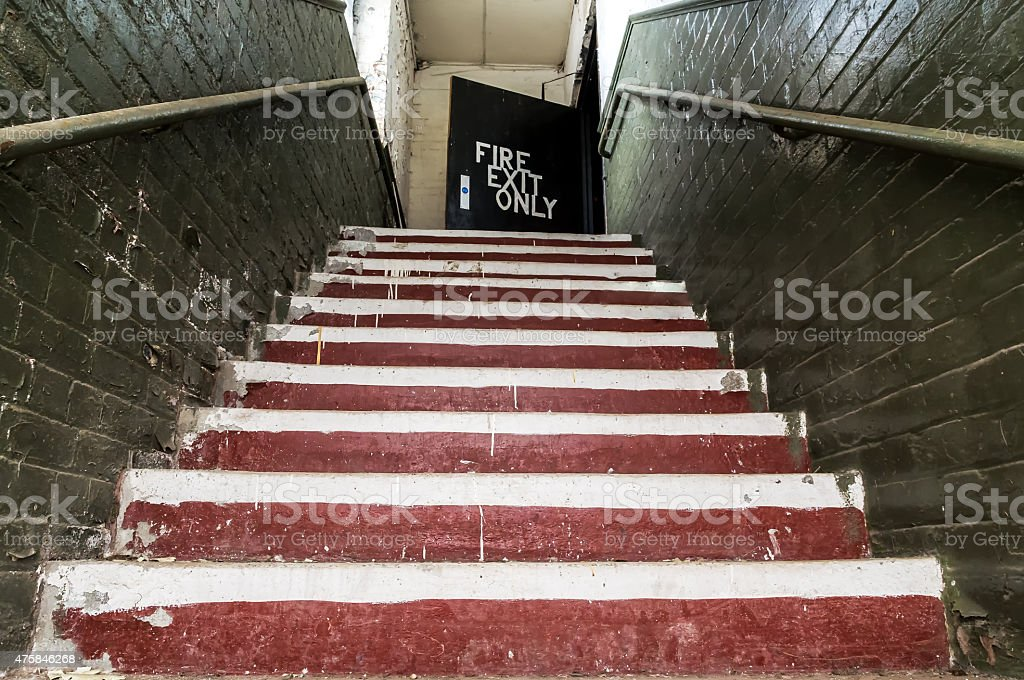 Old staircase. stock photo