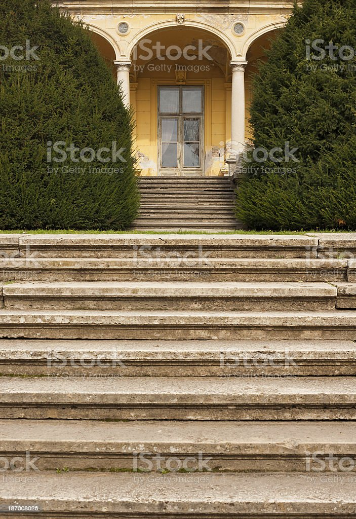 Old stairs royalty-free stock photo