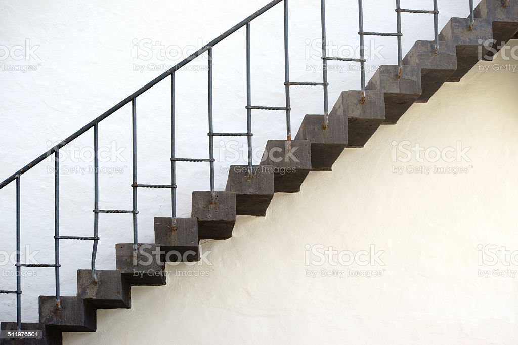 Old stairs stock photo